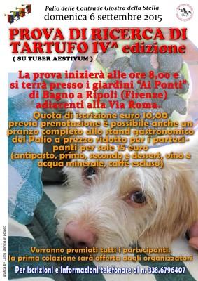 Prova Di Ricerca Del Tartufo Domenica 6 Settembre 2015